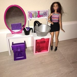 Barbie beauty hair salon set